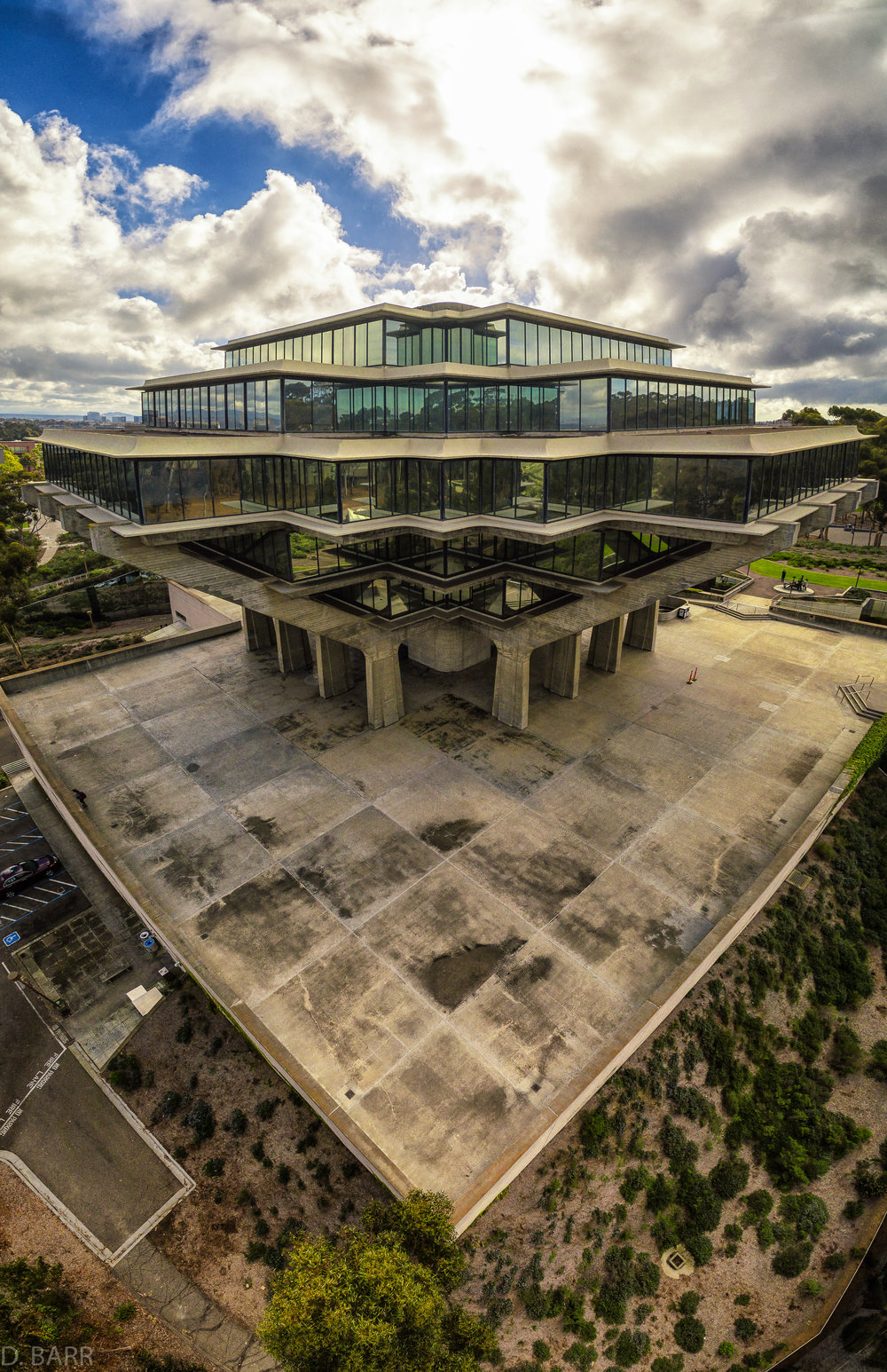 Gisel Library (UCSD) Vertical Pano shot