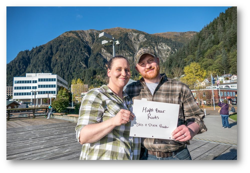 Dixie and Chris Booker of Mighty Bear Roots - Wrangell, AK