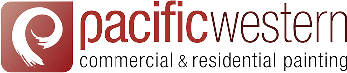 Pacific Western Commercial & Residential Painting red and black logo.