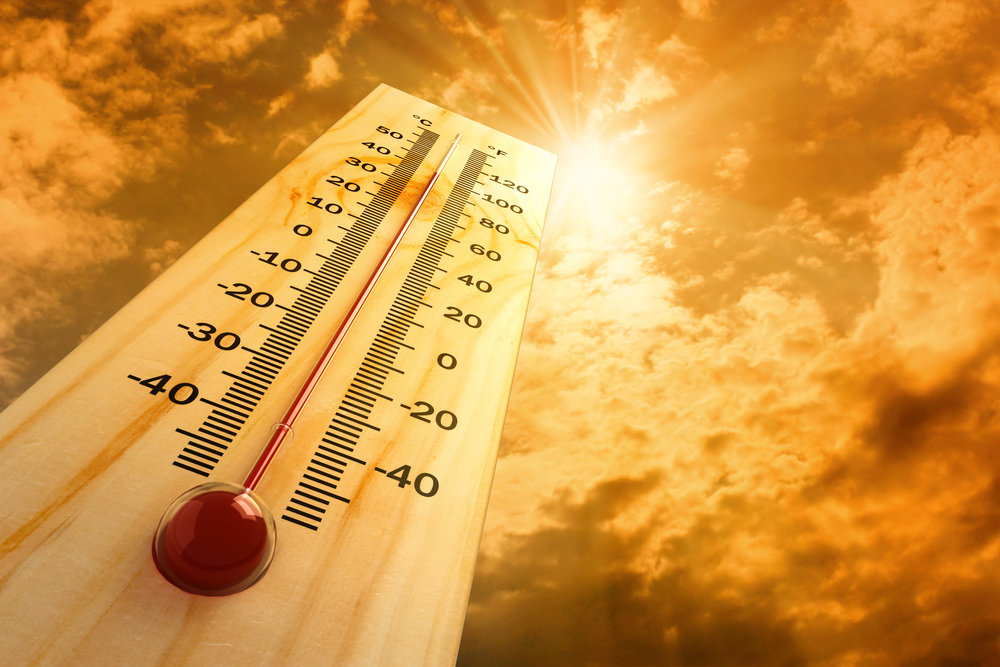 Thermometer with Sun in Sky
