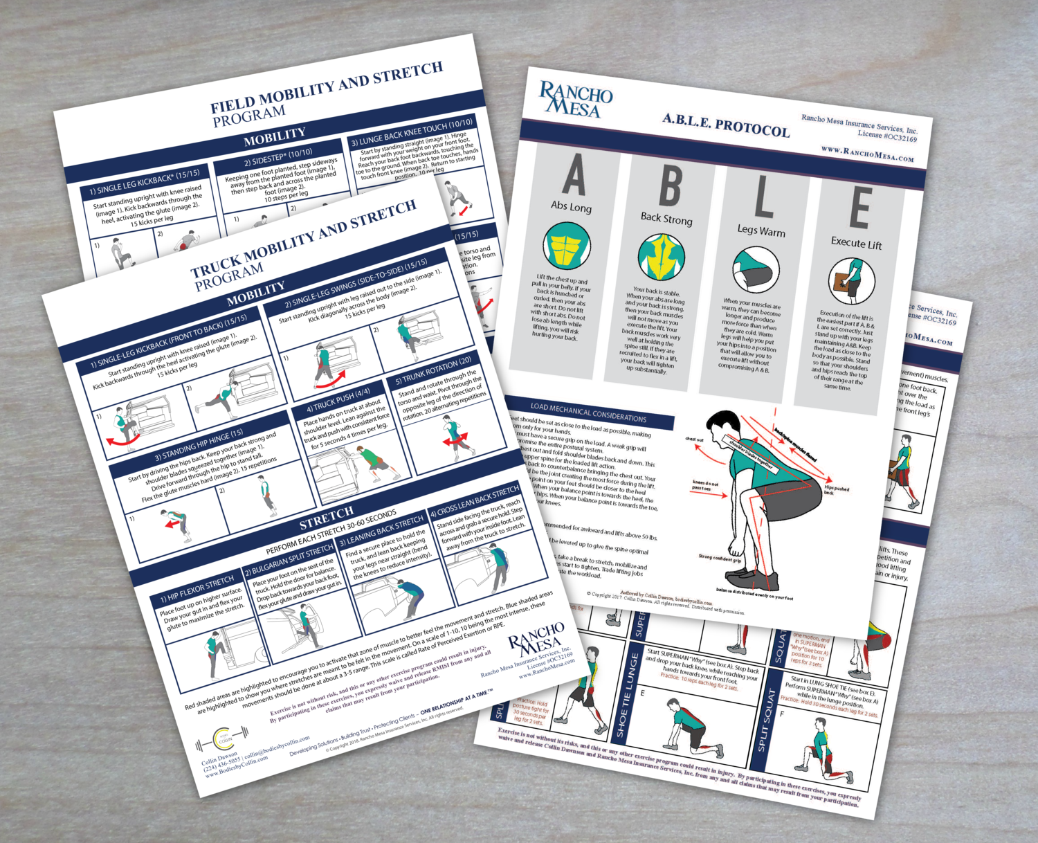 Mobility & Stretch Program and ABLE Lift Protocol — Rancho