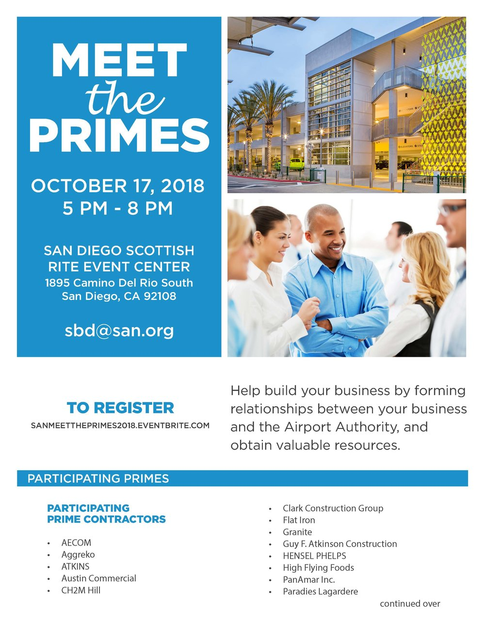 The flyer for the Meet the Primes event.