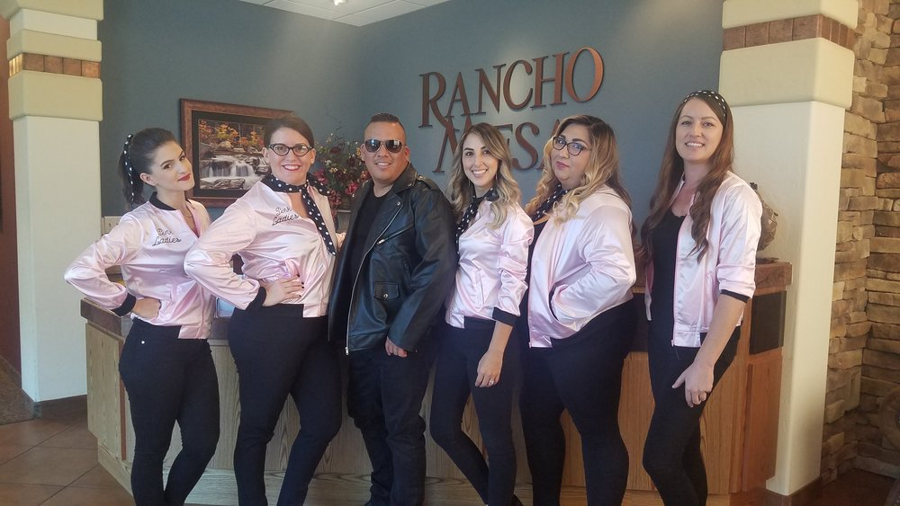 Five Pink Ladies and one T-Bird (Greaser)