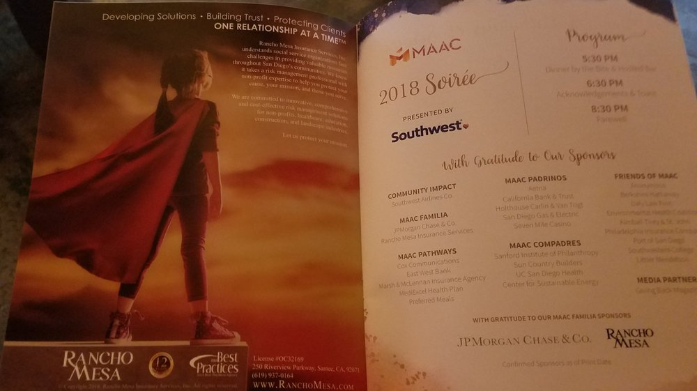 MAAC Soriée Program Booklet
