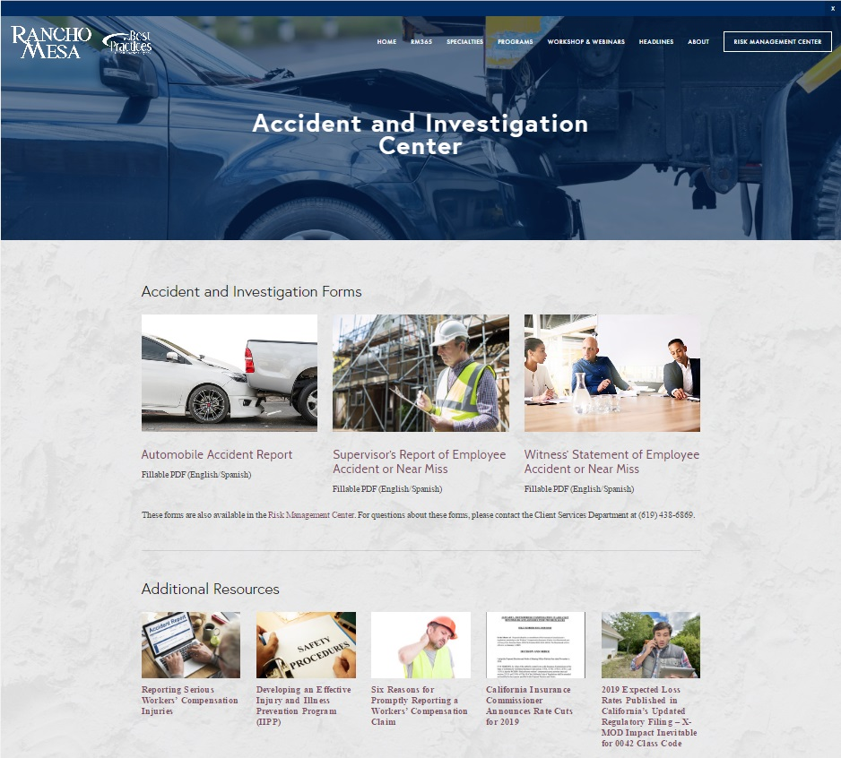 """A car crashed into the back of a track with the words """"Accident and Investigation Center"""" written in white letters."""