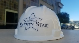 White hard hat with Safety Star sticker