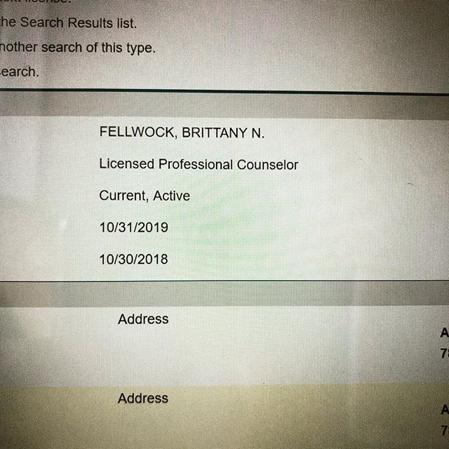 It's official! I'm now a Licensed Professional Counselor! 🎉 . I knew I wanted to be a therapist since I was in 5th grade— when I desperately needed someone to talk to. I gave myself the gift of therapy when I was in college and it changed my life. .  After 4 years of undergraduate work while working a full time job and part time as an unpaid research assistant, 4 years of graduate studies while working a full time job and a part time unpaid counseling internship, and 3000 hours of building a private practice I can now say that I am a LICENSED PROFESSIONAL COUNSELOR! . Thank you to my family, friends, and colleagues who have supported me along the way! Special shoutout to @pridecounselingatx for celebrating with me! You are by far the best person to experience an exciting moment with! . While this leg of the journey is just beginning, and I will be opening the doors to my very own private practice soon, I have another very exciting adventure coming up. I am going on a 2 month backpacking trip to Southeast Asia to appreciate this amazing life. I've been working towards this goal of becoming a therapist for my entire life. And now that I've arrived, I want to take some time to appreciate how privileged I am to be on both sides of the therapy couch— as a client and now as a Licensed Professional Counselor. . I look forward to connecting with you all when I return. 💗 Brittany Fellwock, LPC #EMDRTherapyATX #licensedprofessionalcounselor #lpc #counselorgoals #austintherapist #austincounselor #emdrtherapist #emdr