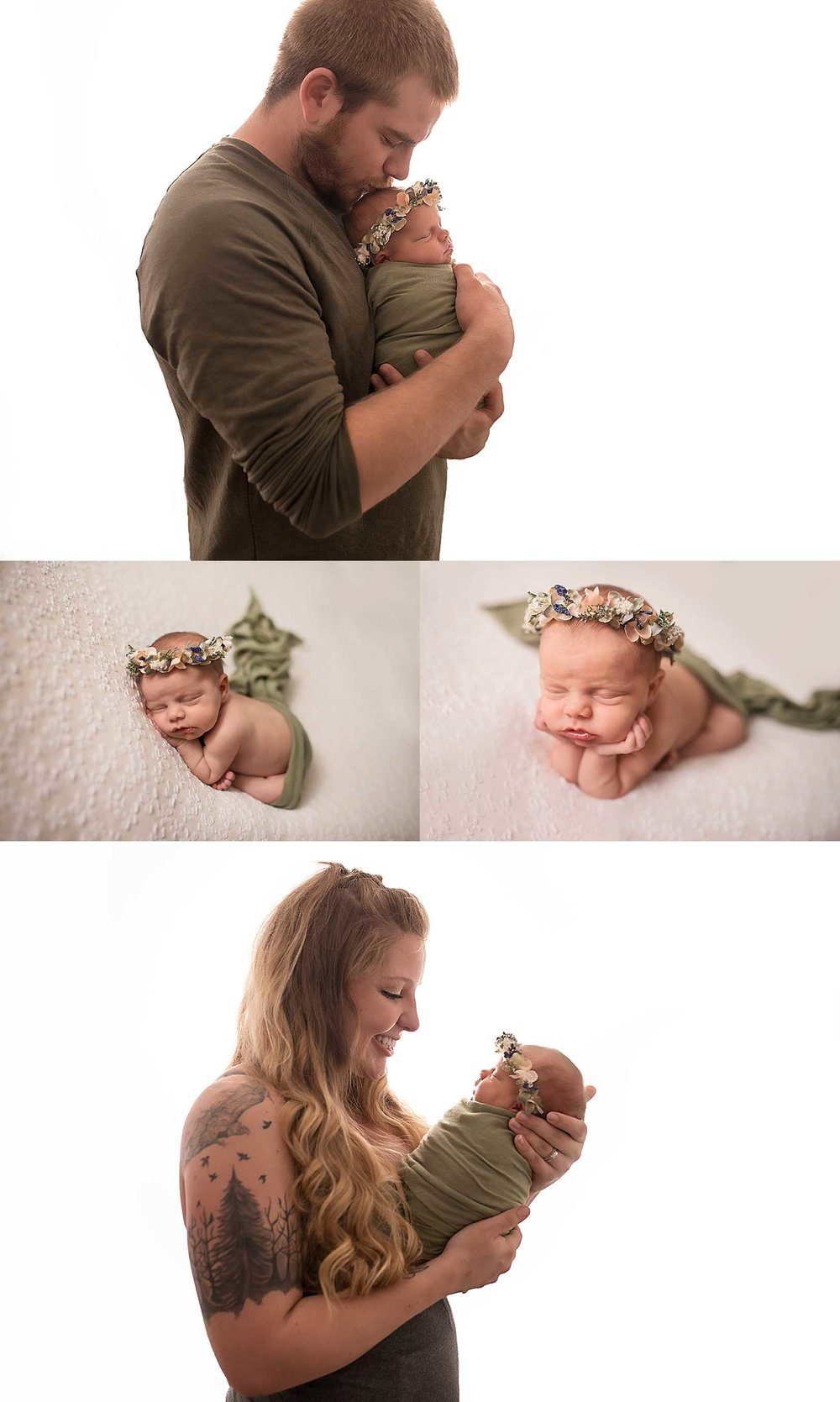 Studio Newborn Portrait Session | Puyallup, WA