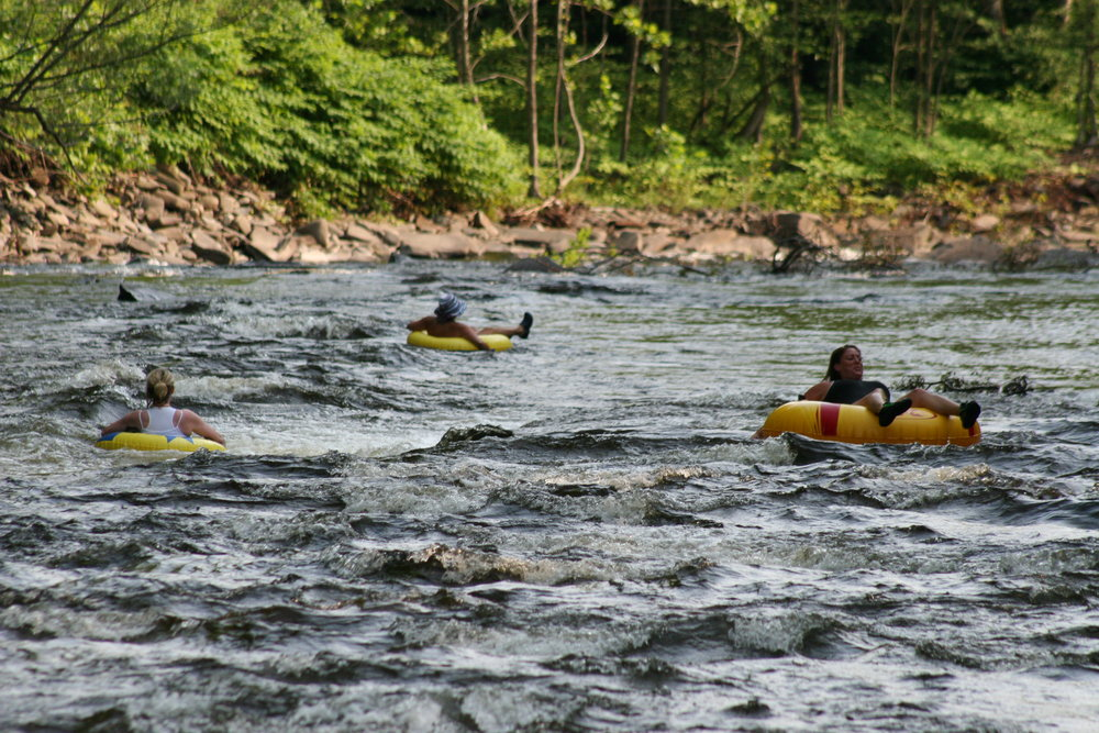 River Tubing fun in Central New York at Wellnesste Cabin Rentals in Taberg NY