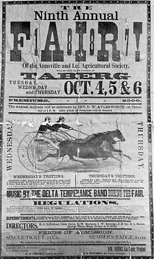 Taberg Fair Poster 1887