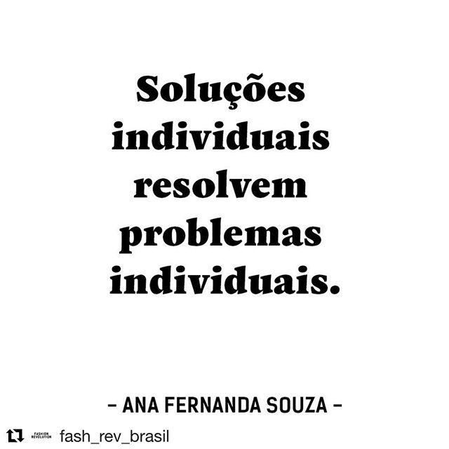 #inspiraçãocoletiva  #Repost @fash_rev_brasil with @get_repost ・・・ Precisamos nos unir em tempos difíceis. Empatia, compaixão, escuta ativa, são características muito importantes em nossa luta. Afinal, como sempre falamos por aqui: juntos somos mais fortes! #fashionrevolution #quemfezminhasroupas #empatia #juntossomosmaisfortes