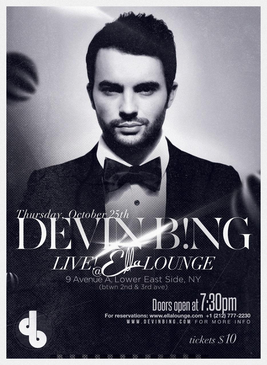 2ee41fdaf PRESS RELEASE   Devin Bing hits LES hotspot Ella Lounge — DEVIN BING