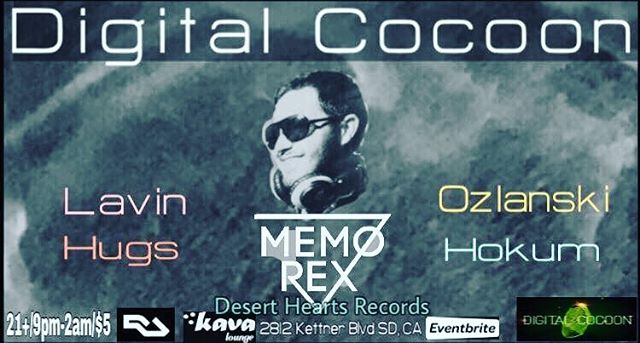 @digitalcocoonsd hosting our boy @memoandrex tonight at @kavalounge They call it #techno #youcanfeelthebass