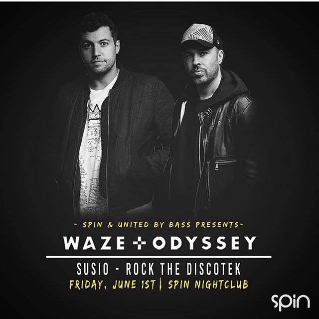 Our guy Susio will be closing out United by Bass presents Waze and Odyssey show at Spin this Friday, alongside Rock the Discotek. See you on the dance floor!
