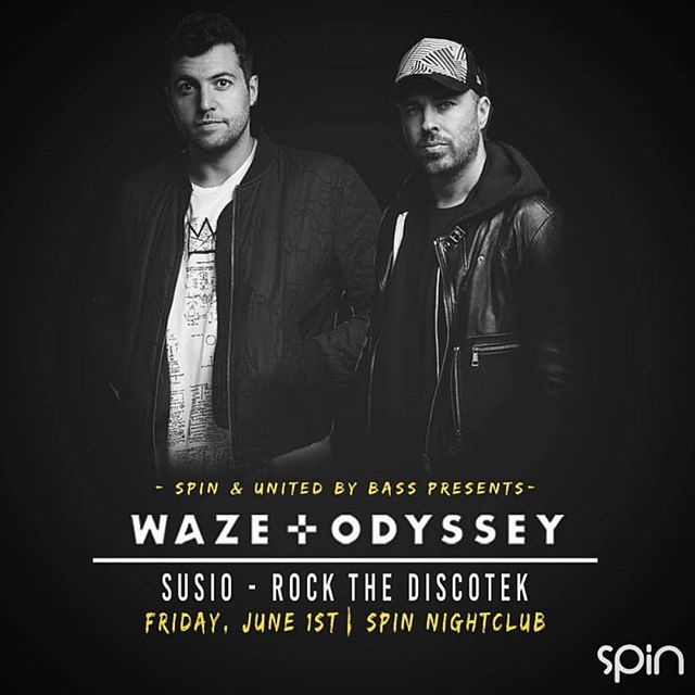 Big night in San Diego for all you tech junkies. Susio closing out the @unitedbybass show after @wazeandodyssey - see you at Spin!