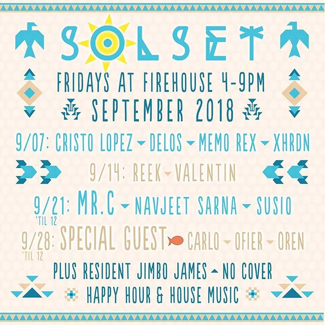 Making my way back to @firehousepb for Solset with @mrcsuperfreq @jimbo_james and @iamnavjeet Friday, September 21st! . . . . . . . #susio #firehousepb #musicis4lovers #house #housemusic #techhouse #technohousemusic #mrc #sandiego #pacificbeachsandiego
