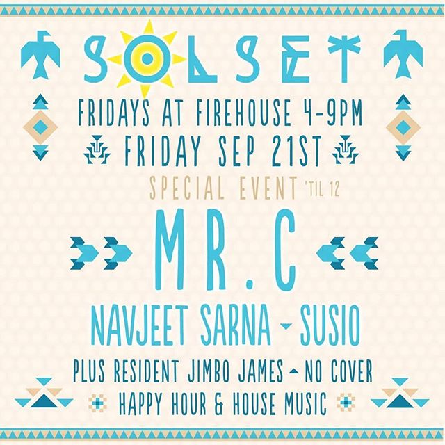 Closing for the legend @mrcsuperfreq tonight at @firehousepb! I'm on the decks from 10pm-12am! . . . . . . . . #Solset #susio #mrc #navjeetsarna #lovelife #musicis4lovers #house #housemusic #techhouse #technohousemusic #firehousepb #pacificbeachsandiego #sandiego