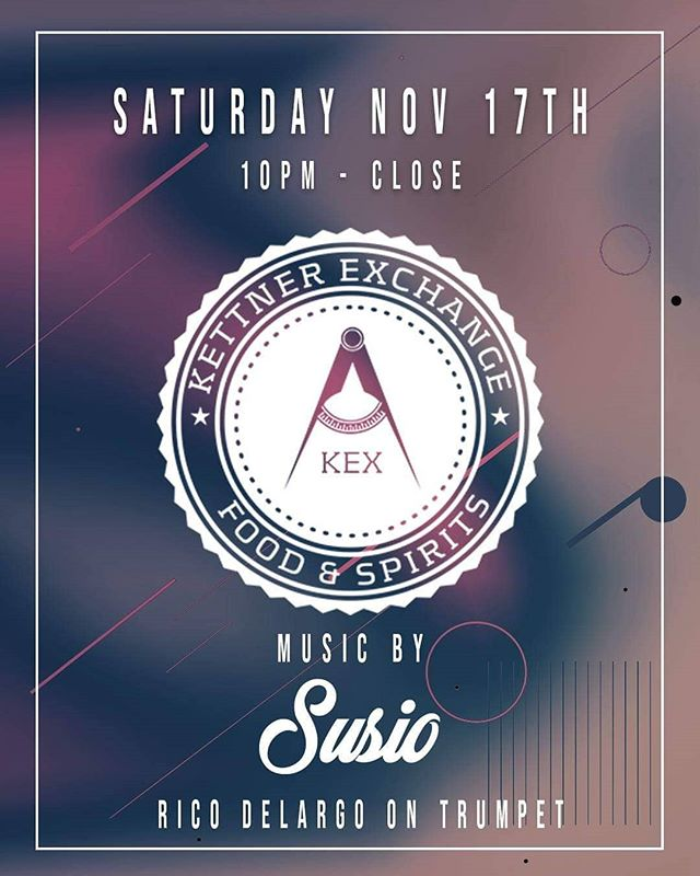 Excited to be back on the decks tonight with @ricodelargo live on trumpet at @kettnerexchange! . . . . . . . #susio #ricodelargo #kettnerexchange #sandiego #littleitalysandiego #techhouse #housemusic #nudisco