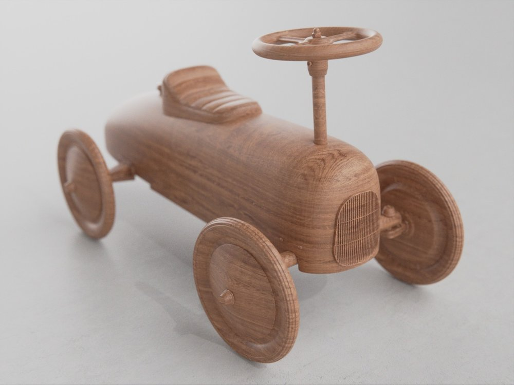 Simple but lovely wooden toy, by  Lawrence Jaeger  using  wood materials . Made with Blender.
