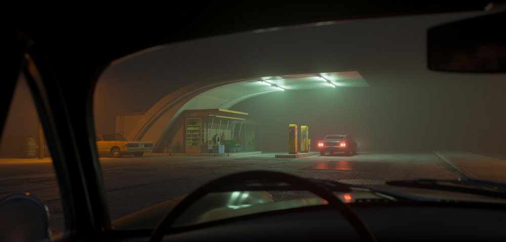 Wow. The combination of green fluorescent lights and fog is just killer! Great mood! By Bahadir Özbek