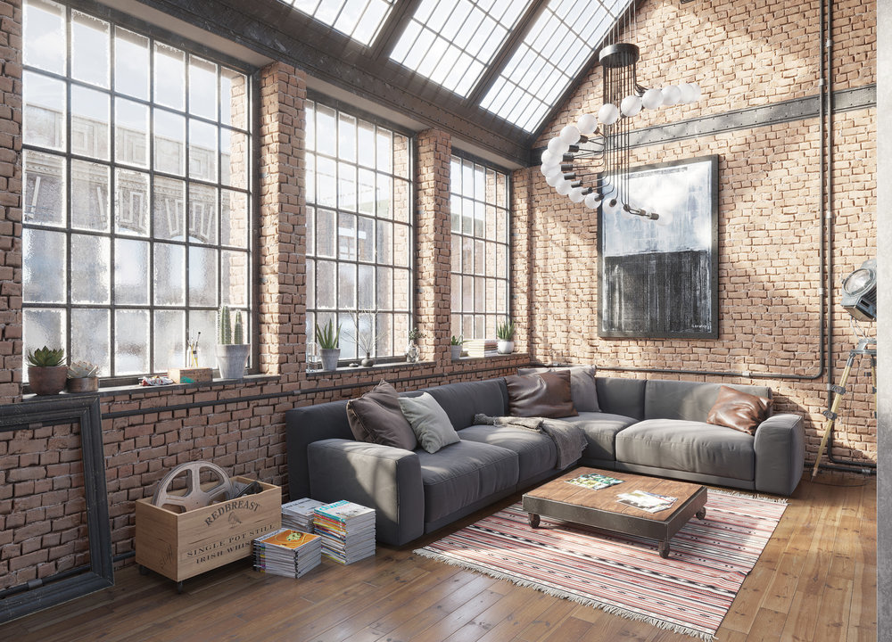 CGI Indrustrial Loft by  Roman Kolyada , using the  Bricks  and  Wood  textures.