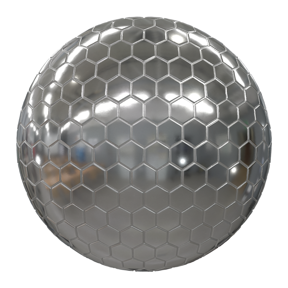 MetalDesignerWallTilesSteelHoneycomb001_sphere.png