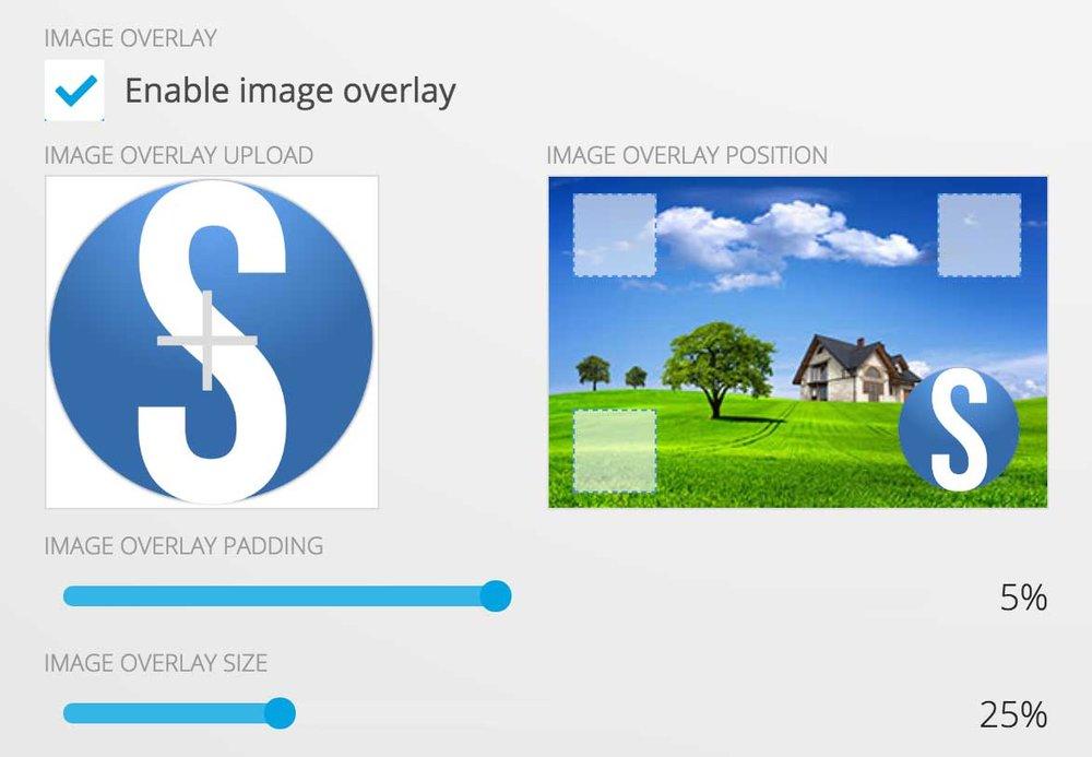 photo sharing image overlay/watermark