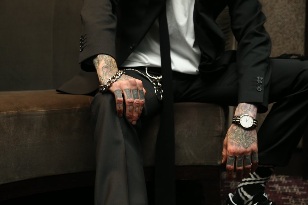 Watch from  @kaptenandson   wrist chain froma street vendor in Milan.