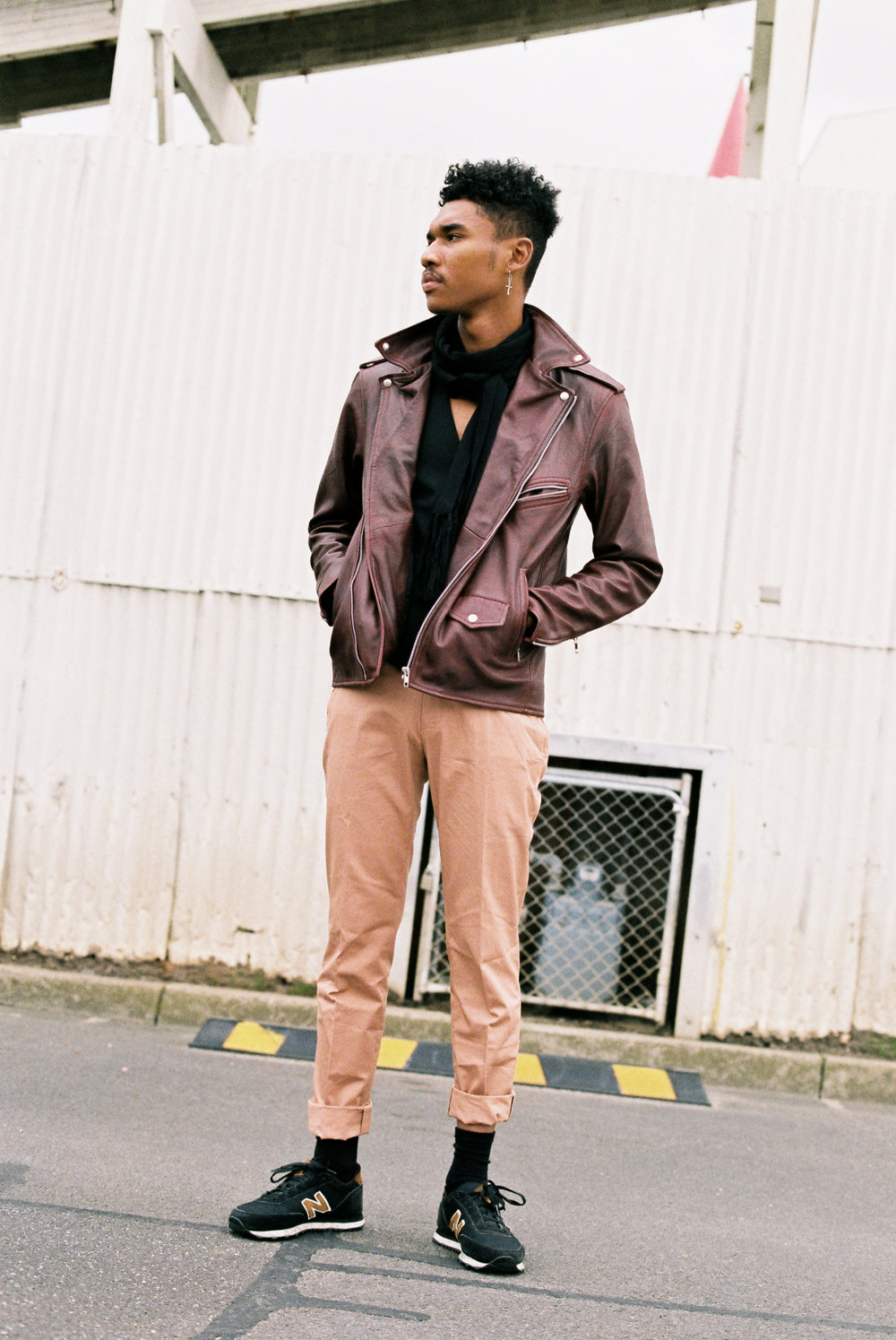 Chai wears: Leather Oxblood Jacket @ viparo   Cotton Chino @ topmanau  Shoes @ newbalanceaustralia  Waist Coat and Scarf @ jacklondon_official
