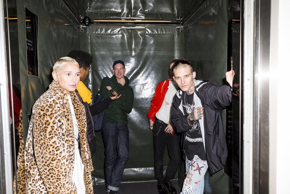Elevevator ride to the venue