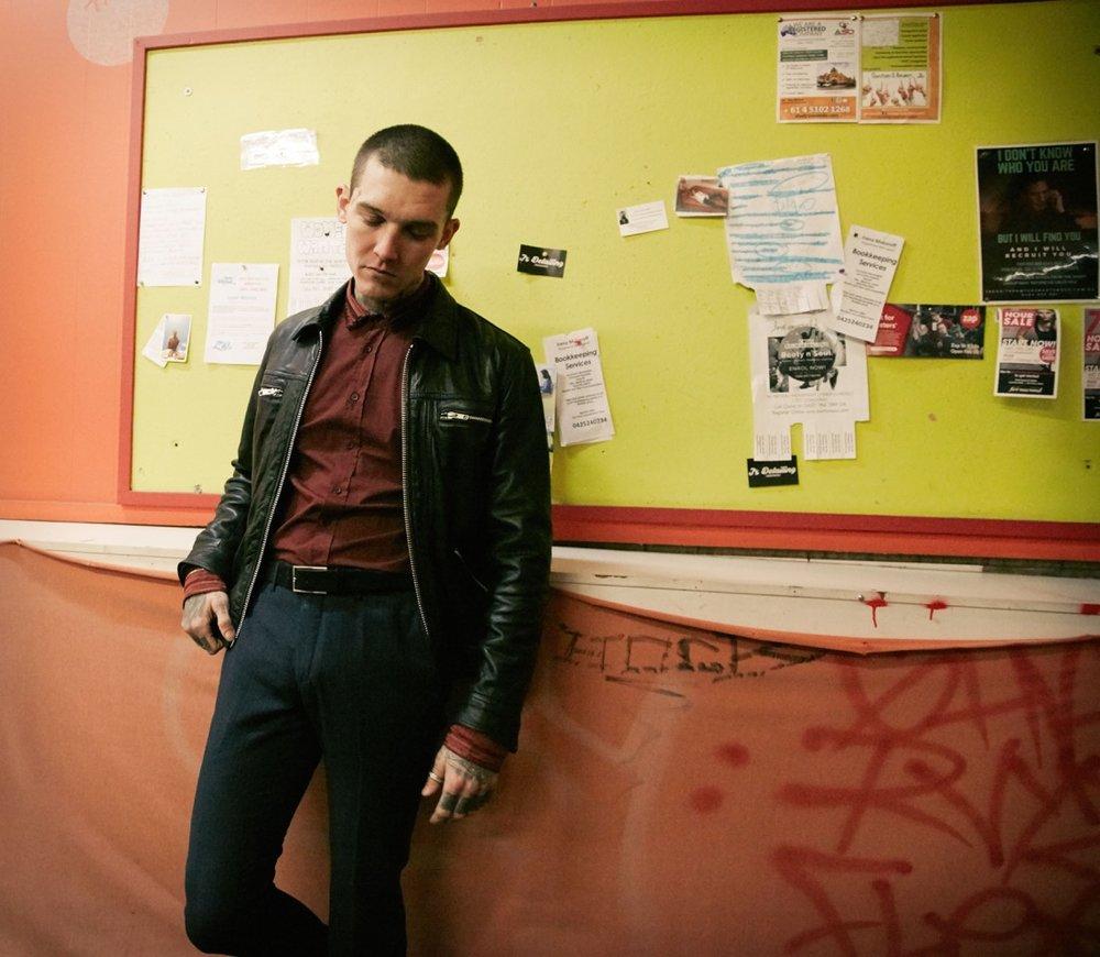 Wearing:   Leather Jacket:  @jacklondon_official  Shirt @ balmain  Pants @ prada  Shoes @ vans
