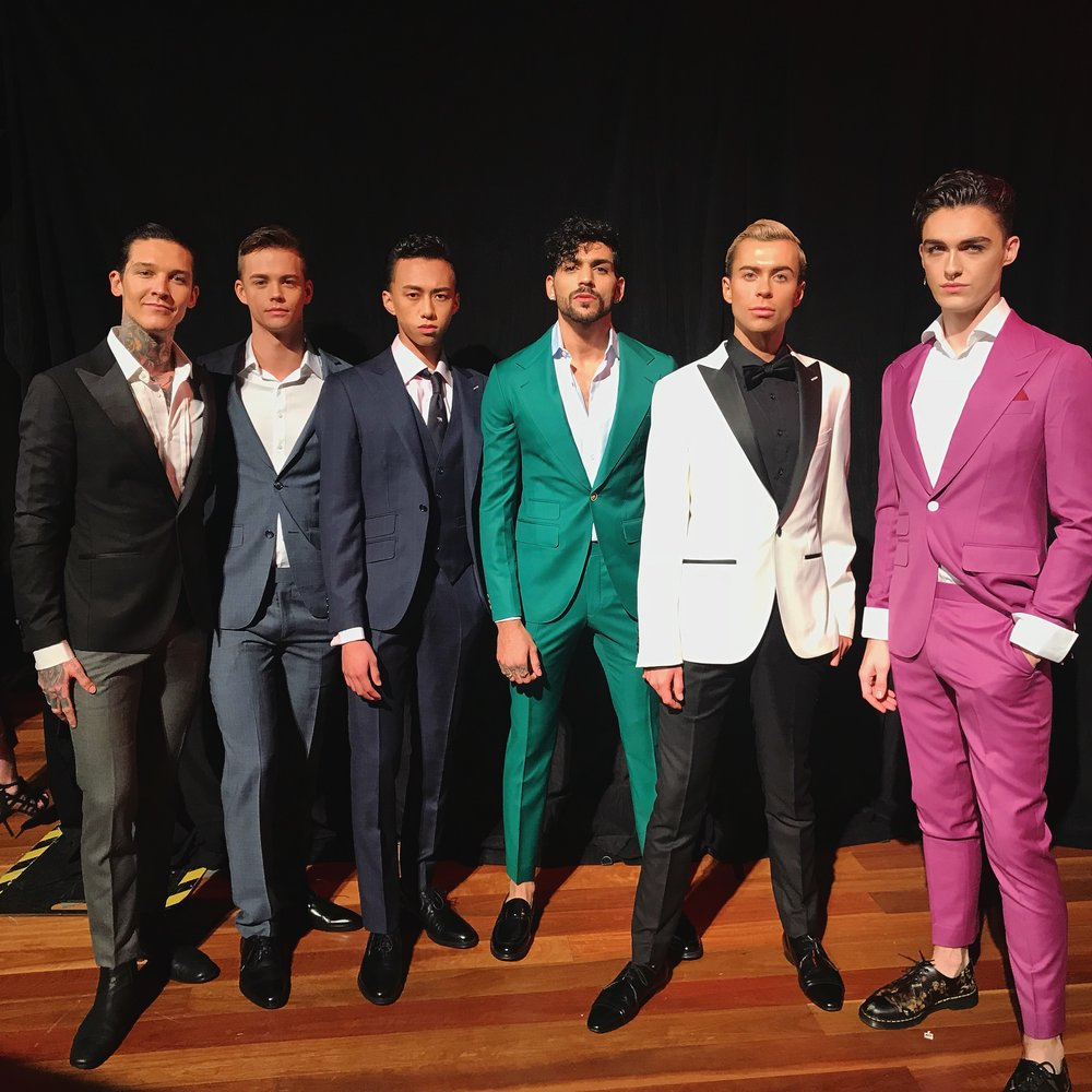 The boys all dressed in their Bespoke Melbourne looks
