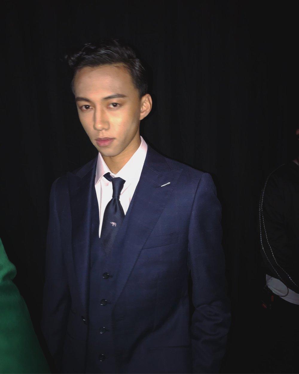 John backstage