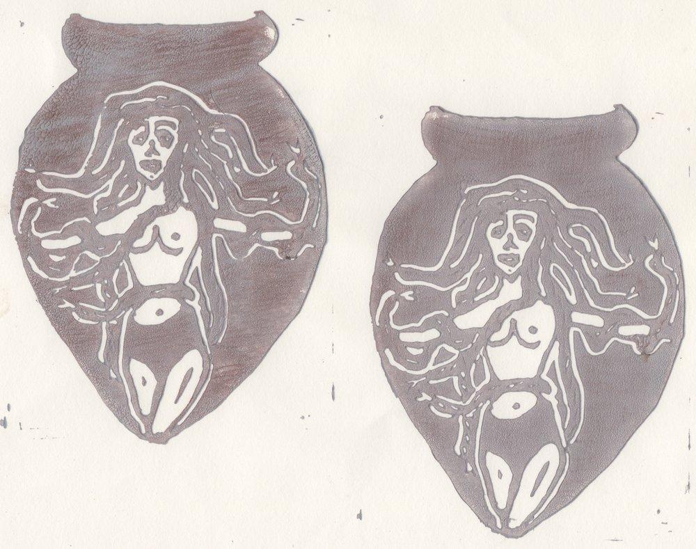Medusa Amphora Print