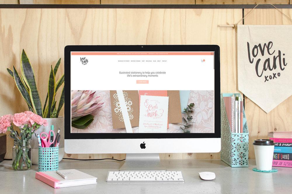 New Love Carli website
