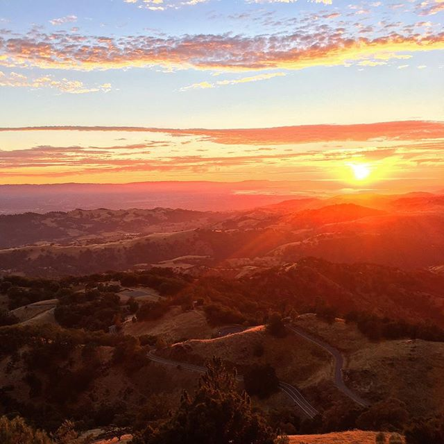 Sunset before Music of the Spheres at @lickobservatory