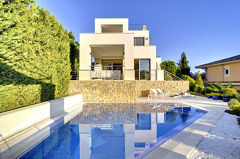 Signature Estate, architecture, modern villa, pool, project, Mallorca, Costa d'en Blanes, garden