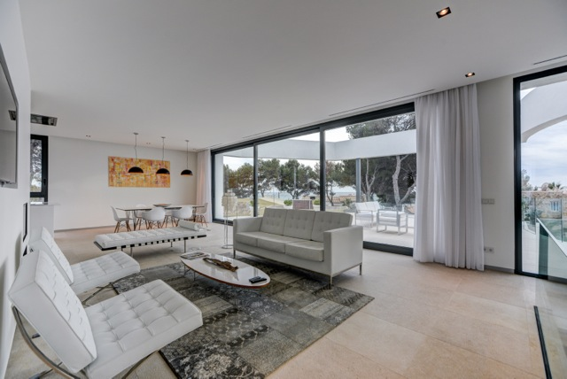 Mallorca, Majorca, interior, villa, modern, architecture, sea view, white, construction, development
