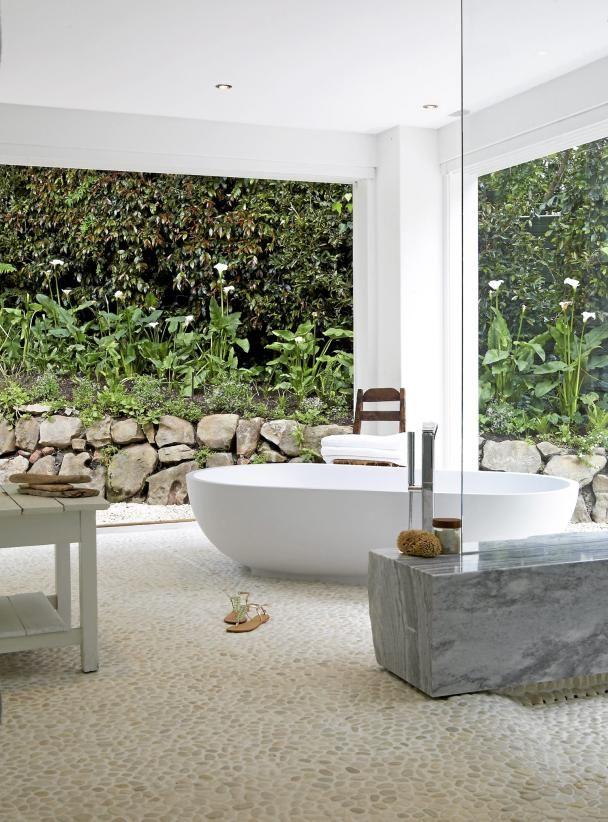 Open, Bath, Bath Tube, Glass Wall, Interior, Interior Design, Mallorca