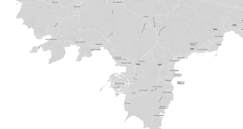 Santa Ponsa auf der Karte