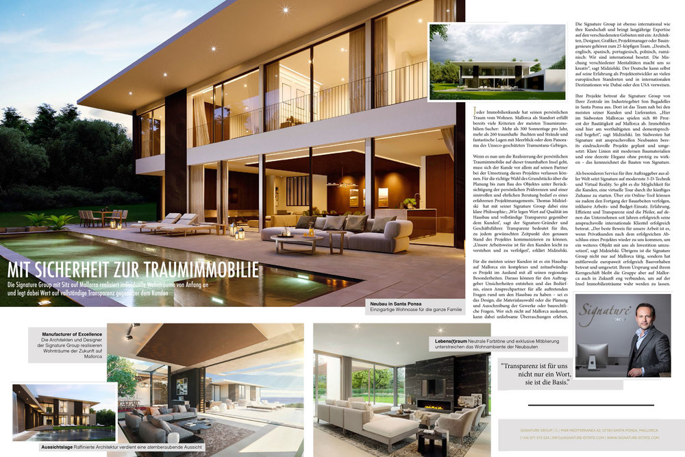Signature Group in Europe's leading real estate magazine.