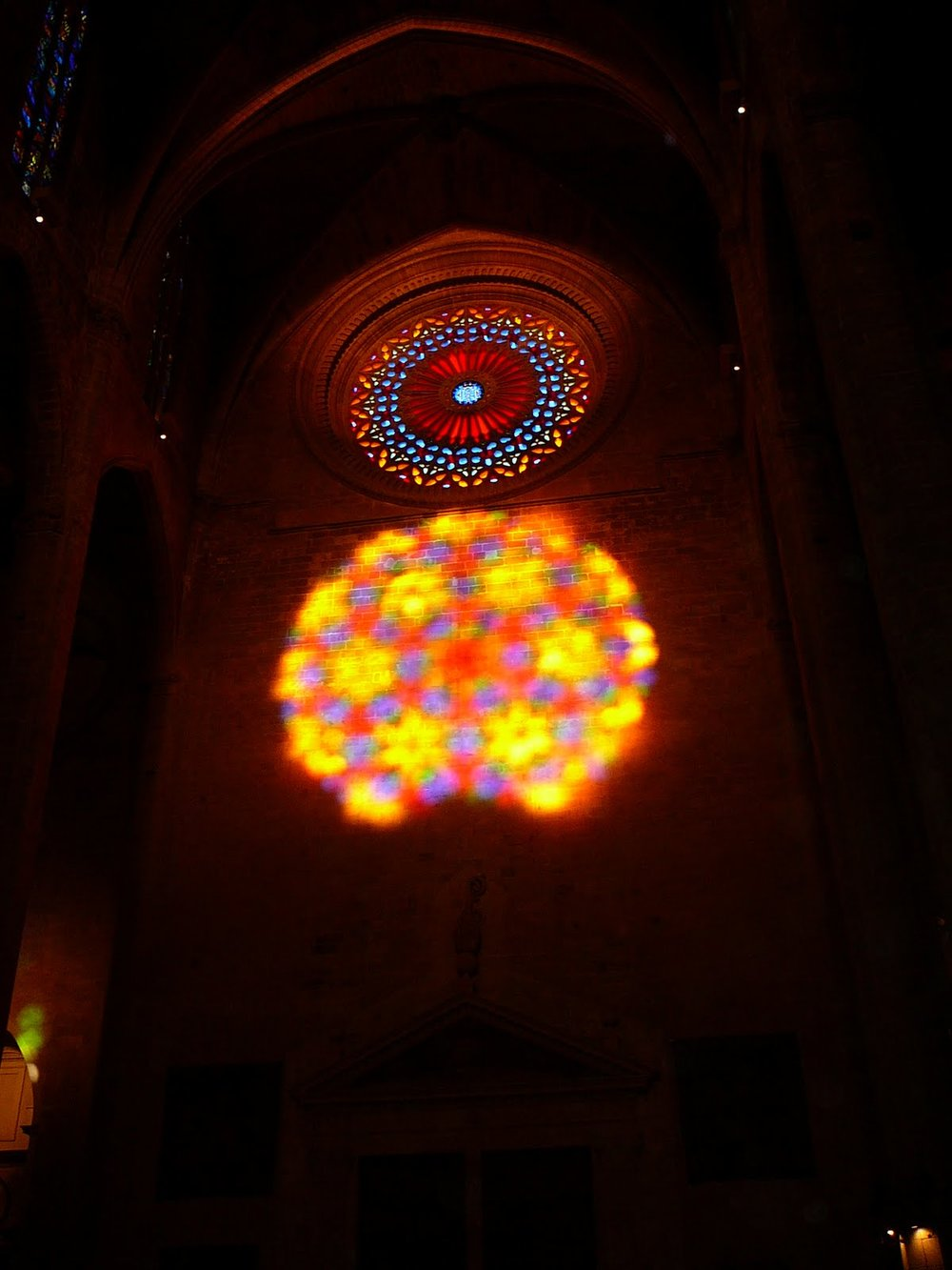 Magical light show in Palma's Cathedral, La Seu.