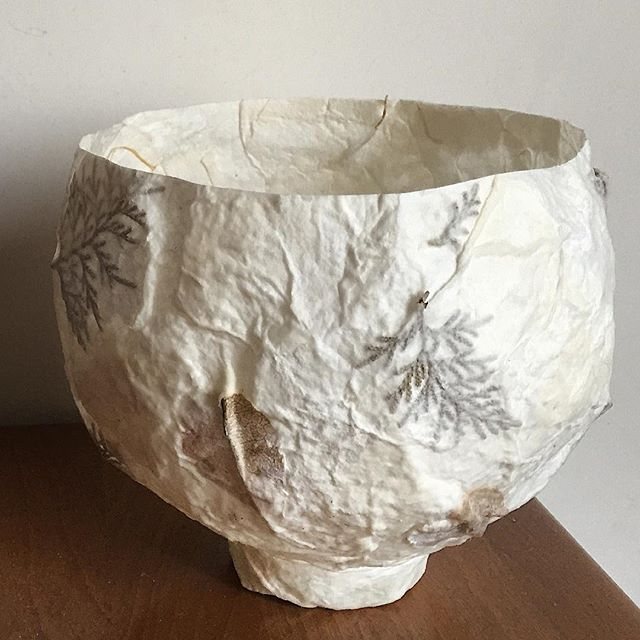 Beautiful #organic #handmade #paper #candle holder - a stunning vessel #madeinitaly. Available on pre order @therealstore #socialimpact #therealstore