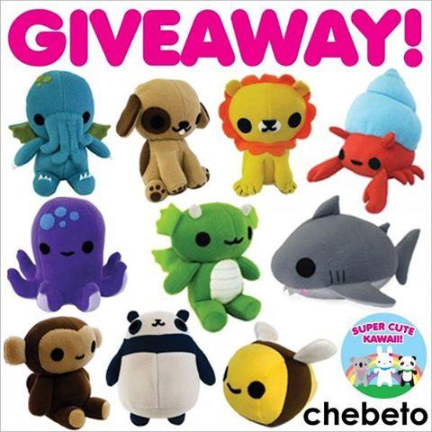 You can win a plush toy, you choose which one! Enter the contest via www.supercutekawaii.com Good luck! #giveaway #supercutekawaii #chebeto