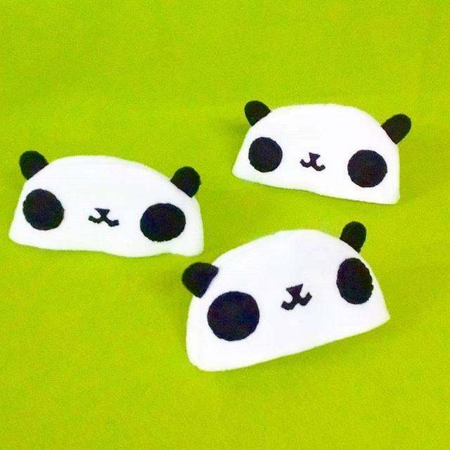 Pandas in progress! #panda #plushie #kawaii