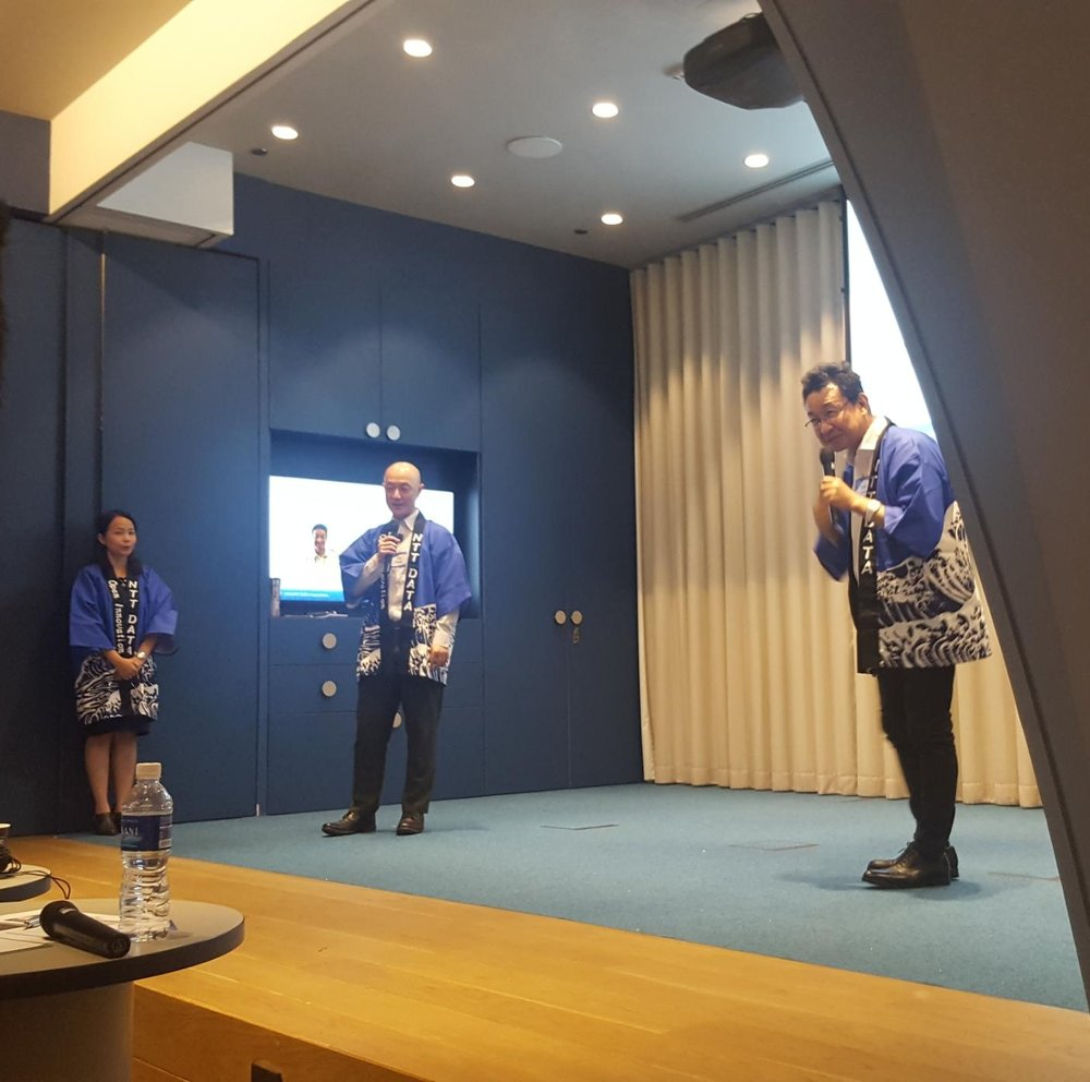 Kotaro Zamma, Head of Section and Kaz Okada, Senior Expert for the Open Innovation and Business Incubation for NTT DATA Corp.