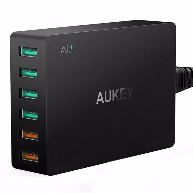 17 POINTS    REDEMPTION CODE: S03   AUKEY Quick Charge 3.0 6-Port USB Charging Station