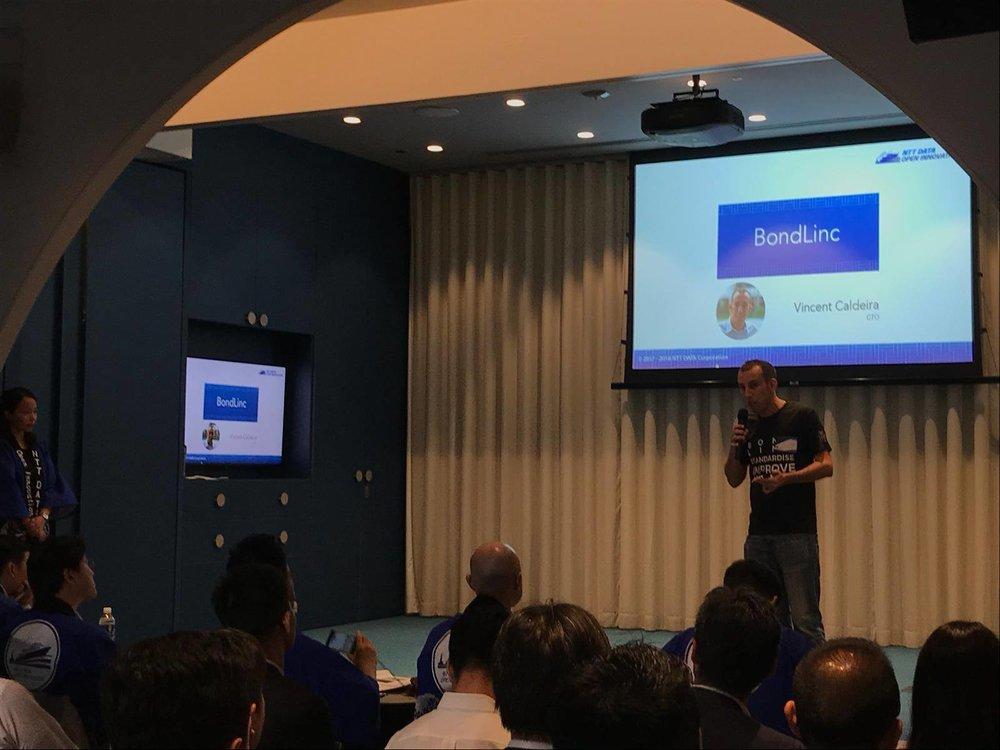 Copy of CTO Vincent Caldeira presenting at NTT Data Innovation Challenge