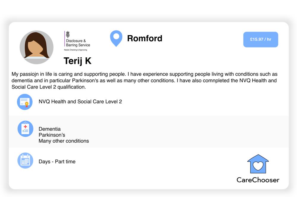 Terij - Home Care - Romford