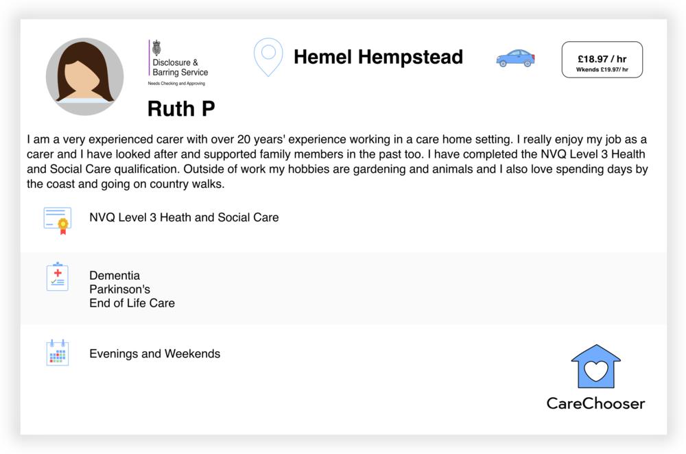 Ruth - Night Care - Hemel Hempstead